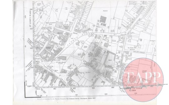 Map of Cannock 1957