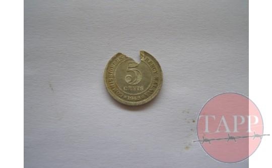 1948 Malaya 5 cents coin