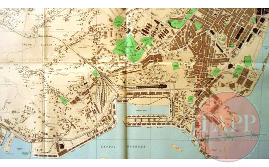 1938 Road map of Singapore