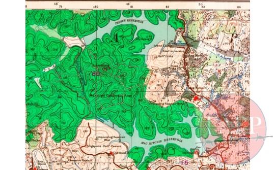 1938 OS map MacRitchie to Pierce