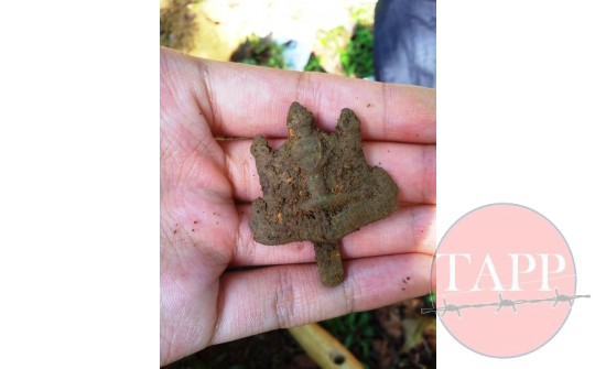 The Badge as it was found in the ground