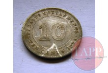 1895 10 cents Coin
