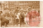 Possibly at Gt Yarmouth. Brothers in this one L-R  Fred, Horace, Arthur. c1920-