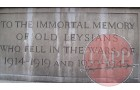 Poignant words on the Leys School war memorial