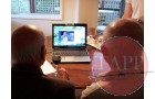Lloyd an Joe on Skype call
